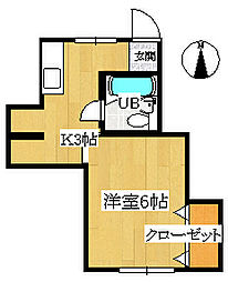 市岡文化B棟[B2号室]の間取り