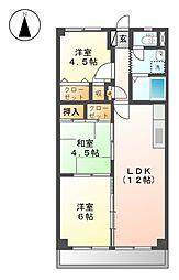 クレストンマンションSⅢ[1階]の間取り