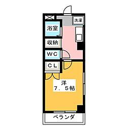 第2さくらマンション中央[5階]の間取り