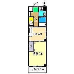 ヴィアーレ・K[2階]の間取り