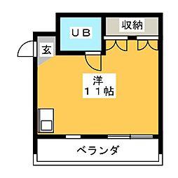 コーポアリオン[3階]の間取り