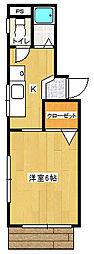 神奈川県横浜市神奈川区松本町1丁目の賃貸マンションの間取り