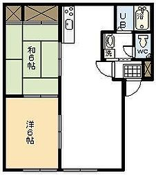 シャトル木花台E棟[E102号室]の間取り
