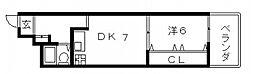 ノバカネイチ谷九[1階]の間取り