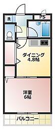 サンコーポ[1階]の間取り