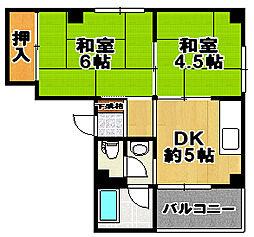 山元マンション[5階]の間取り