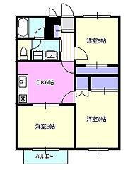 ドエル湘南2[2階]の間取り