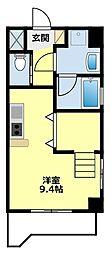愛知県豊田市山之手4の賃貸マンションの間取り