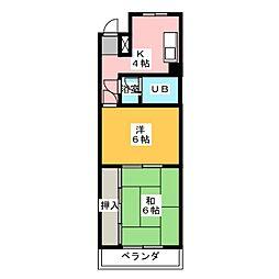 サンハイツナカヰ[3階]の間取り