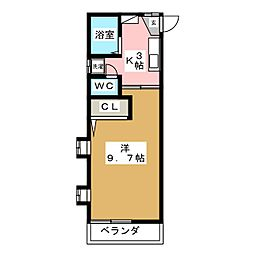 カーサ藤[2階]の間取り