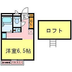 兵庫県尼崎市水堂町4丁目の賃貸アパートの間取り