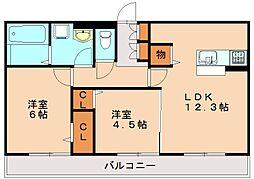 D-room寺塚 伍番館[2階]の間取り