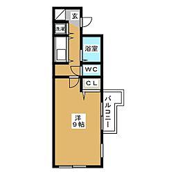 エスポワール箱崎III[5階]の間取り