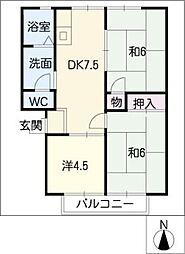 セジュール水野[2階]の間取り