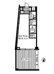ベルファース三宿[-2階]の間取り