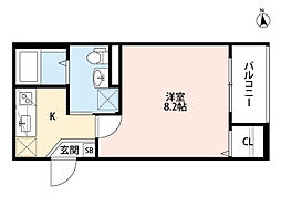 兵庫県尼崎市杭瀬北新町3丁目の賃貸アパートの間取り