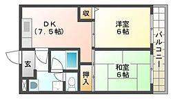第2木村マンション[2階]の間取り