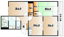 ふじハイツ[3階]の間取り