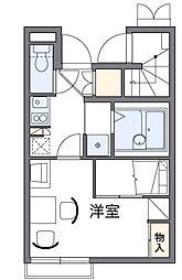 東京都足立区西伊興1丁目の賃貸アパートの間取り