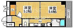 Kushige Gojo[414号室号室]の間取り