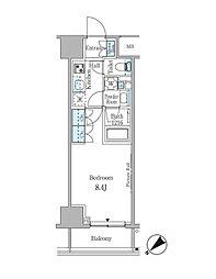 ルビア赤坂 6階1Kの間取り