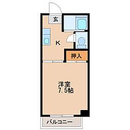 シャングリラ八幡[3階]の間取り