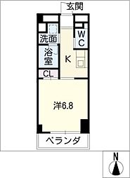 星ヶ丘リビング[5階]の間取り