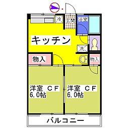 シティハイム サンライズIII[1階]の間取り