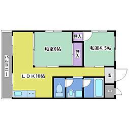第2宗田マンション[1階]の間取り