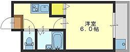 大阪府東大阪市菱屋西4丁目の賃貸マンションの間取り
