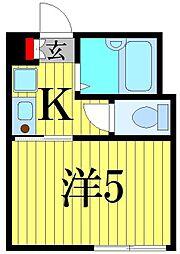 東京都葛飾区東金町3の賃貸アパートの間取り