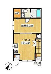 lea ohana(レアオハナ)[2階]の間取り