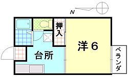 MAISON HOLY HOCK[102号室]の間取り