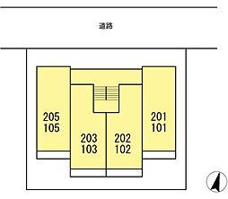 DL リマージュ [ネット無料・駅近D-ROOM][105号室]の間取り