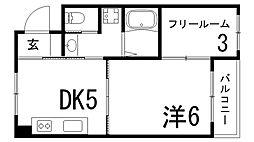 兵庫県神戸市灘区宮山町3丁目の賃貸マンションの間取り