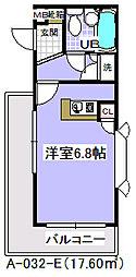ローズガーデンA32番館[1階]の間取り