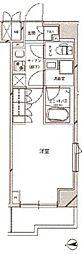 JR南武線 矢向駅 徒歩14分の賃貸マンション 4階1Kの間取り