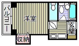 ファロー和泉[3階]の間取り