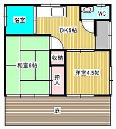 [一戸建] 千葉県松戸市小金 の賃貸【千葉県 / 松戸市】の間取り