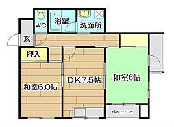 マンション富士[2階]の間取り