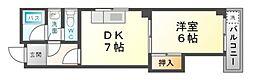 辻本マンション[2階]の間取り