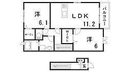 メゾン・ラ・フレーズ[2階]の間取り