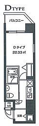 レジディア虎ノ門[6階]の間取り