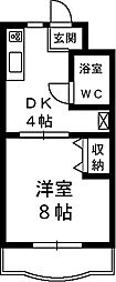 ゴオナカマンション[1階]の間取り