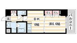 兵庫県神戸市中央区加納町2丁目の賃貸マンションの間取り