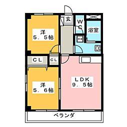 メゾンドスイートII[1階]の間取り