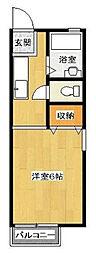 神奈川県川崎市麻生区百合丘3丁目の賃貸アパートの間取り