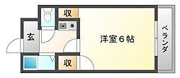 ラガール豊津[2階]の間取り