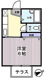サマックス大和田[1階]の間取り