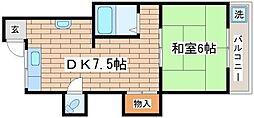 兵庫県神戸市須磨区堀池町2丁目の賃貸マンションの間取り
